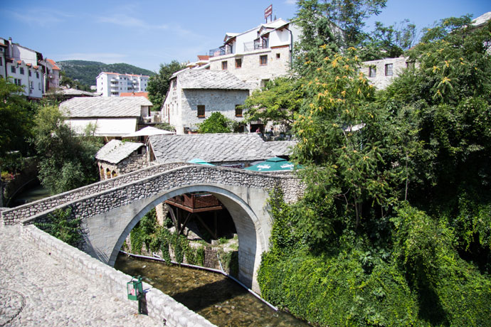 Brug in Mostar, Bosnië-Herzegovina