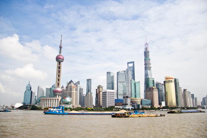 Fietsen door Shanghai