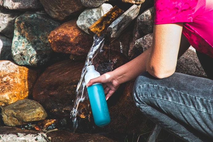 Dopper waterfles voor op reis