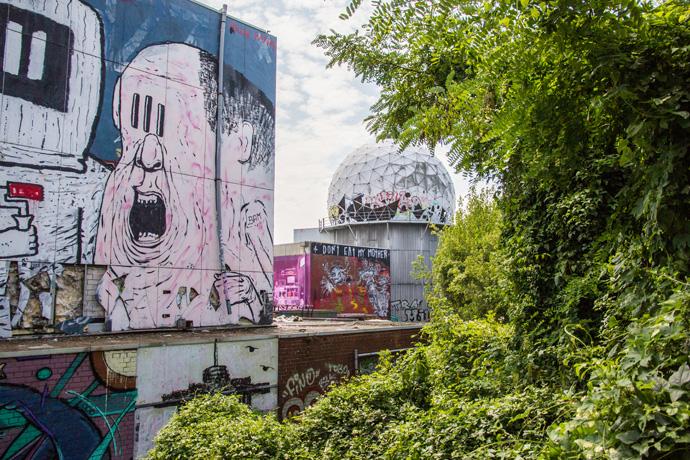 Teufelsberg bezoeken, een voormalig afluisterstation in Berlijn