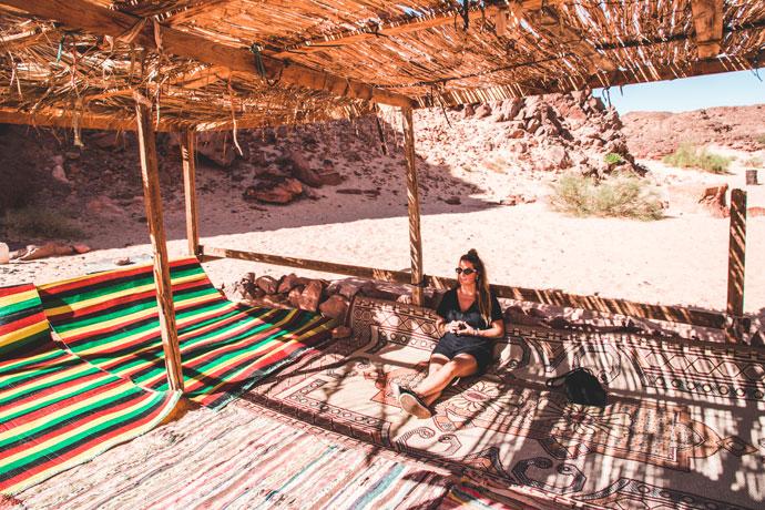 Jeepsafari in de Sinaï woestijn in Egypte