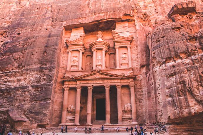 Wereldwonder Petra bezoeken in Jordanië
