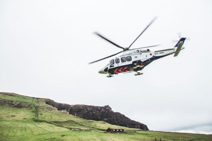 Helikopter Faeröer Eilanden