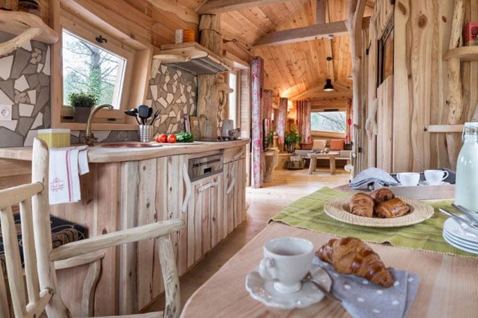 Boomhut in Frankrijk