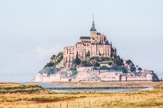 Wadlopen bij Mont Saint-Michel in Normandië