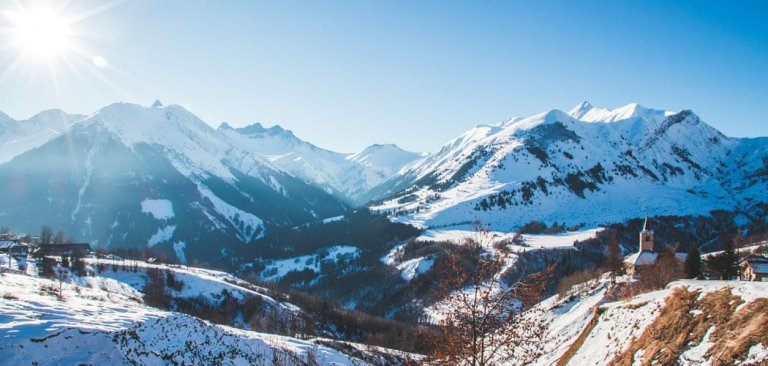 Wintersport in Les Sybelles, Frankrijk