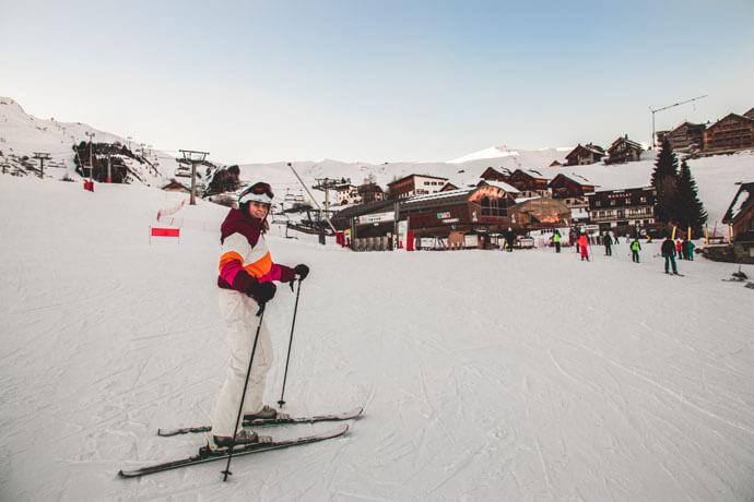 Wintersport in skigebied Les Sybelles in Frankrijk