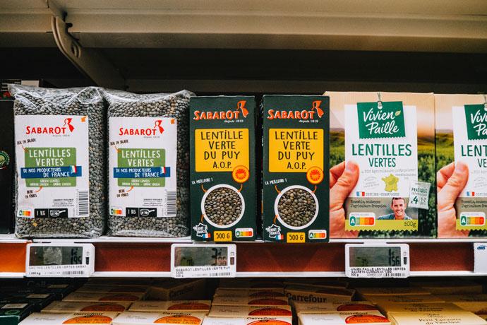Linzen uit de Franse supermarkt