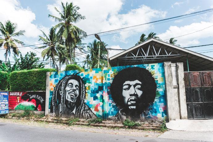 Street art in Senggigi, Lombok
