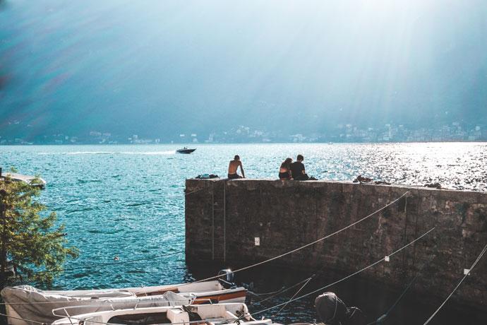 Op vakantie aan het Comomeer