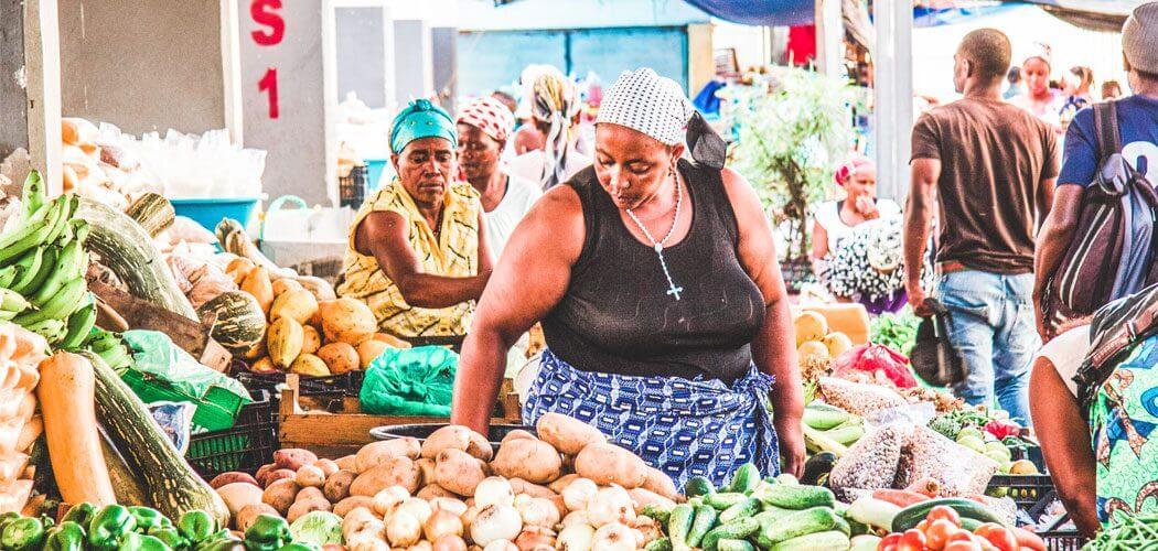 De markt in Assomada, Santiago, Kaapverdië