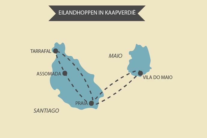 Kaart van Kaapverdië
