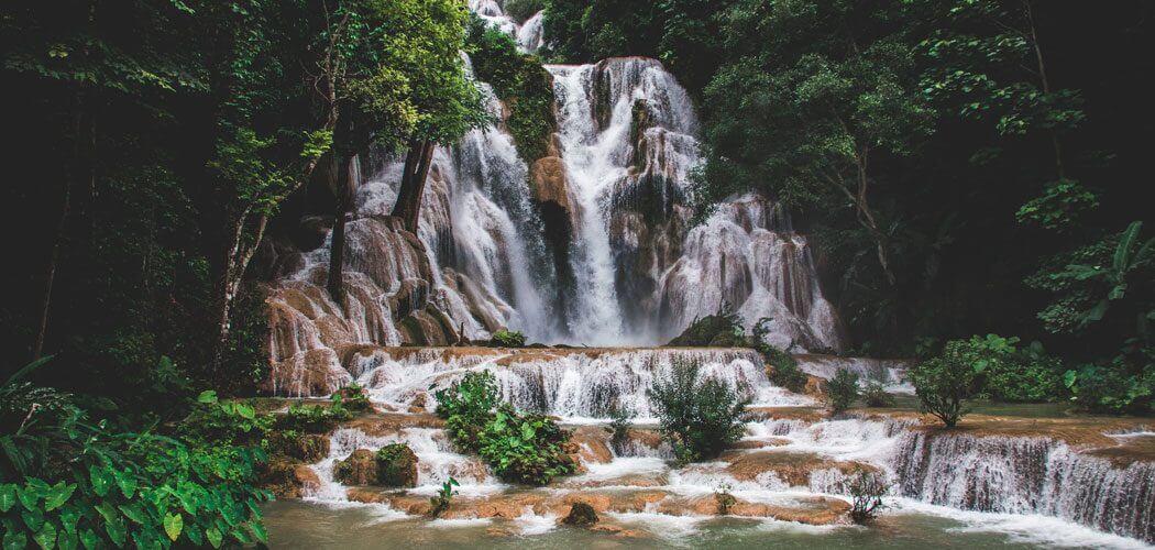Kuang Si Watervallen in Laos