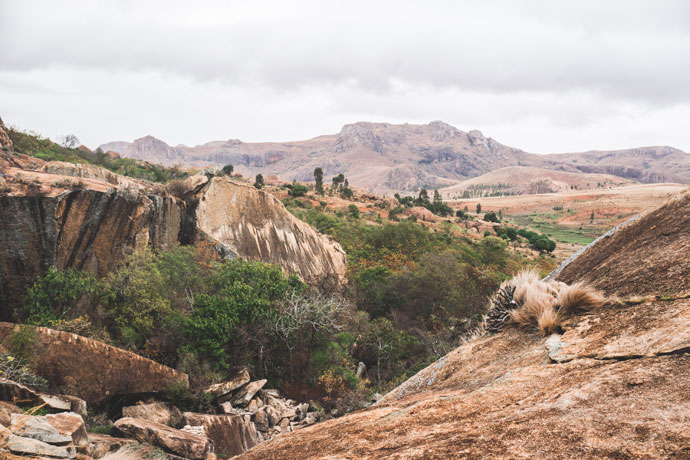 Wandelen in Anja Reserve in Ambalavao, Madagascar