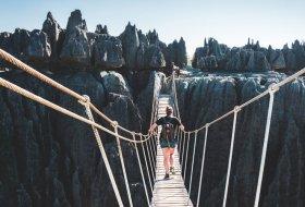 Alleen voor durfals: bezoek het Tsingy de Bemaraha National Park in Madagascar
