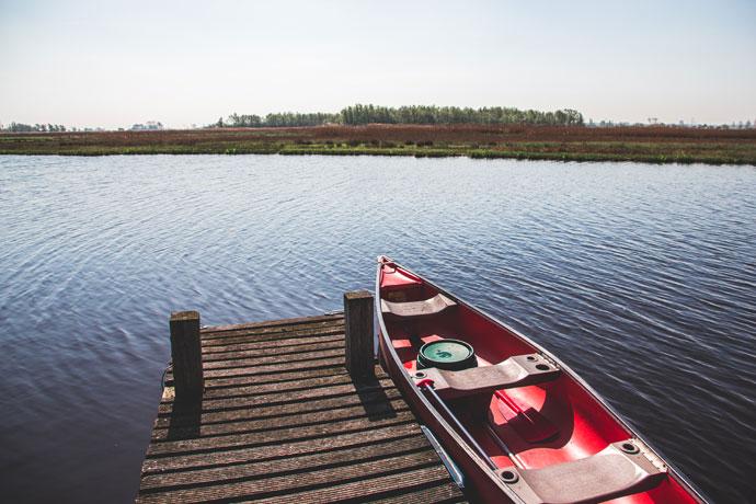 Kanoën ten noorden van Amsterdam