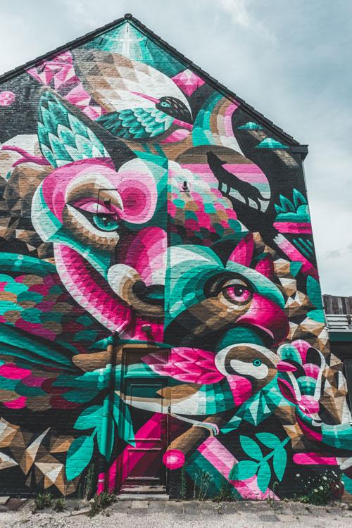 Street art in Heerlen: Eelco van den Berg