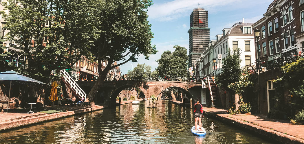 Suppen op de Oudegracht in Utrecht