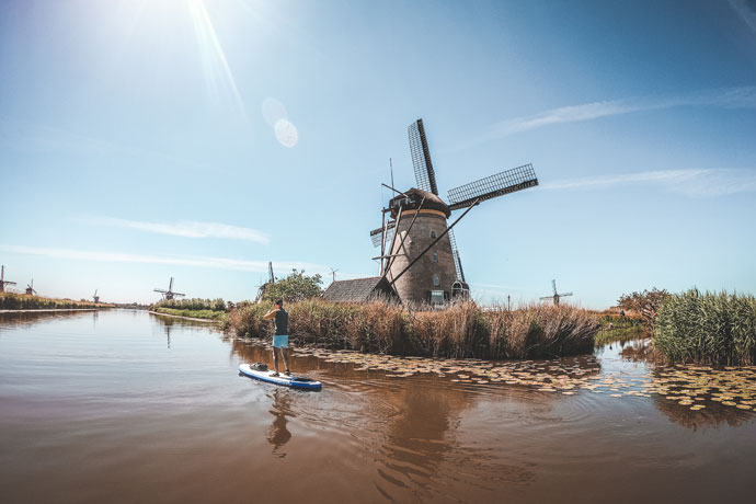 Suppen bij de molens van Kinderdijk