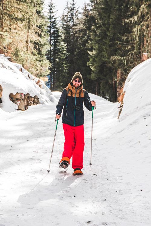 Wintersport in Niederthai-Umhausen, Oostenrijk