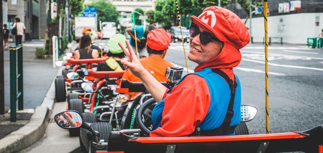 Real Life Mariokarten in Tokyo, Japan