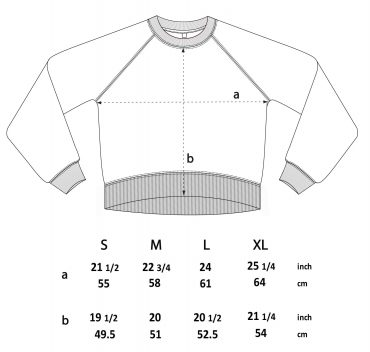 Size guide Expeditie Aardbol Sweater