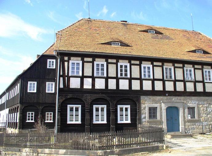 Vakwerkhuis in Ebersbach-Neugersdorf