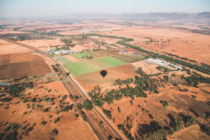 Luchtballon Zuid-Afrika