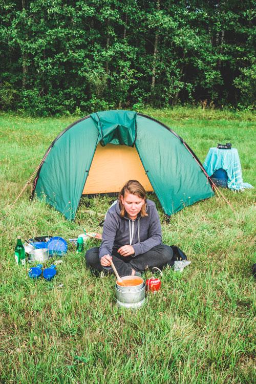 Wildkamperen tijdens een vlotvakantie in Zweden