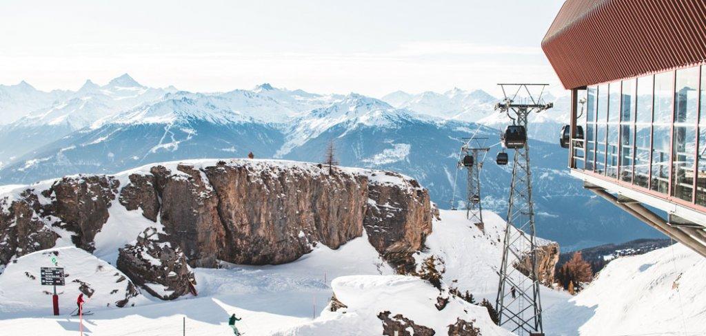 Wintersport in skigebied Crans-Montana