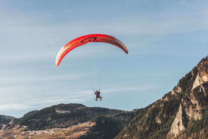 Verbier: Paragliding in Zwitserland