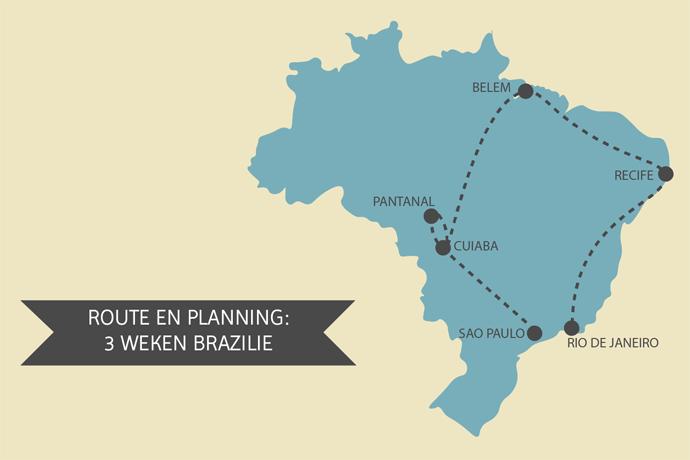 Backpacken Brazilië: route 3 weken Brazilië