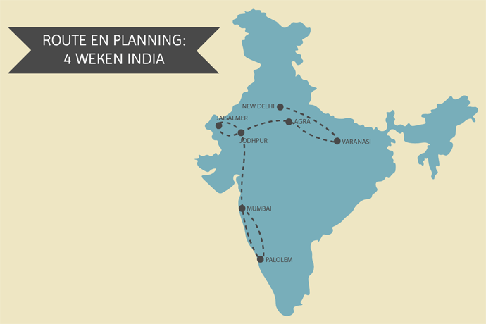 Reisroute voor 4 weken backpacken in India