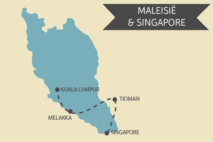 Kaart Maleisie Singapore