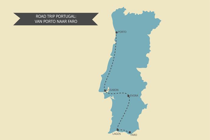 Portugal kaart road trip